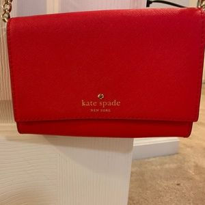Red Kate Spade Clutch - rarely used!